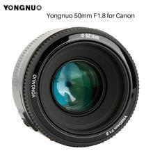YONGNUO YN50mm YN50 F1.8 EF 50 مللي متر AF MF كاميرا عدسات لكاميرات كانون المتمردين T6 EOS 700D 750D 800D 5D مارك II IV 10D 1300D