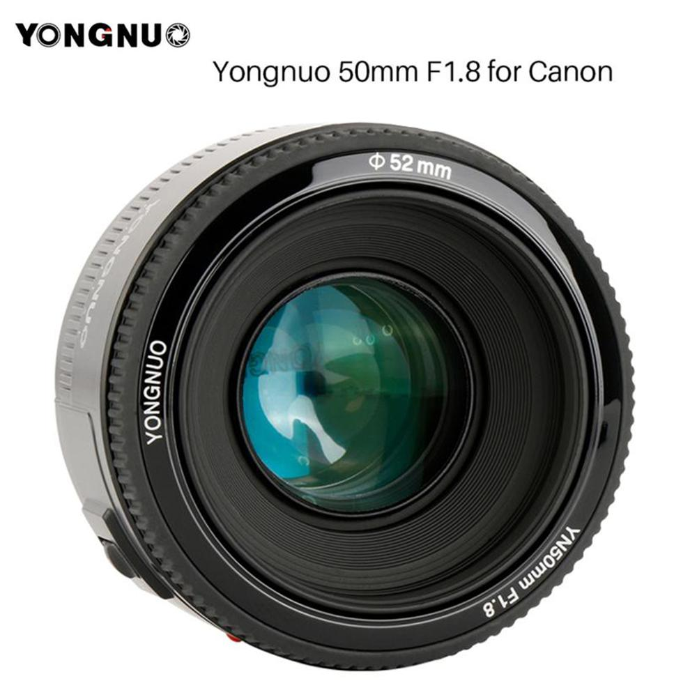 YONGNUO YN50mm YN50 F1.8 EF 50MM AF MF Camera Lens For Canon Rebel T6 EOS <font><b>700D</b></font> 750D 800D 5D Mark II IV 10D 1300D image