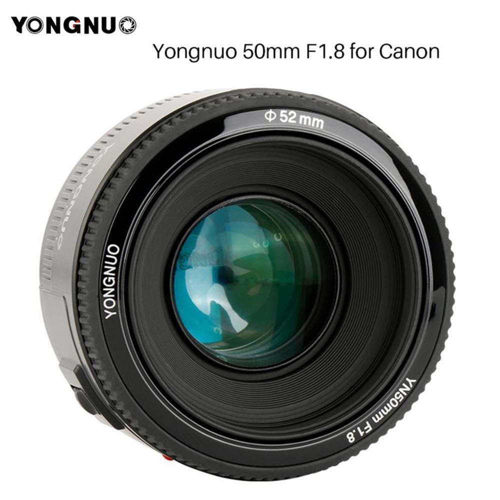 Yongnuo yn50mm yn50 f1.8 ef 50mm af mf lente da câmera para canon rebel t6 eos 700d 750d 800d 5d mark ii iv 10d 1300d