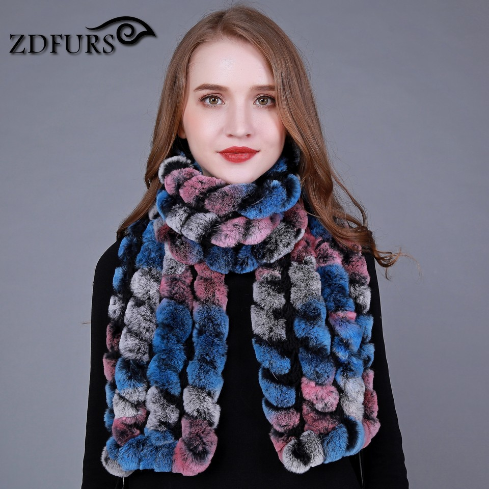 ZDFURS * winter uitlaat sjaal rex konijn sjaal Lady Fashion Winter - Kledingaccessoires