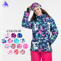 VECTOR Brand Ski Jacket Women Windproof Waterproof Warm Winter Jackets Outdoor Sport Snow Coat Skiing Snowboarding Clothing