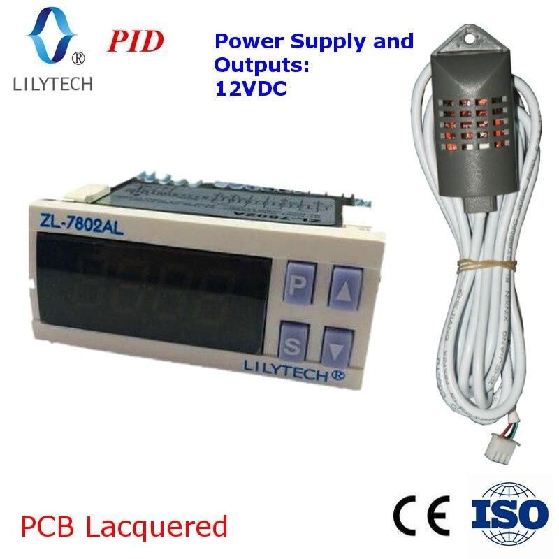 ZL-7802AL, 12VDC, PID Température D'humidité pour incubateur, Multifonctionnel couveuse automatique, Incubateur Contrôleur, Lilytech