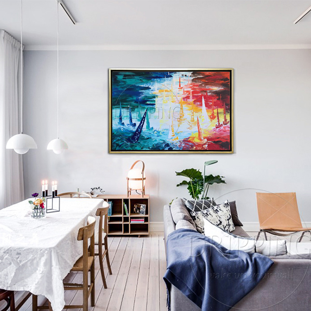 Maler Team Liefern Qualitativ Hochwertige Hand bemalt Boot Ölgemälde ...