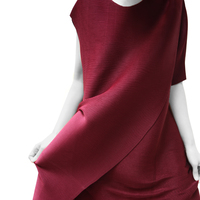 Changpleat 2018 Summer women's dress Miyak Pleated original design short sleeve loose Solid Female Dresses High fashion Tide D70
