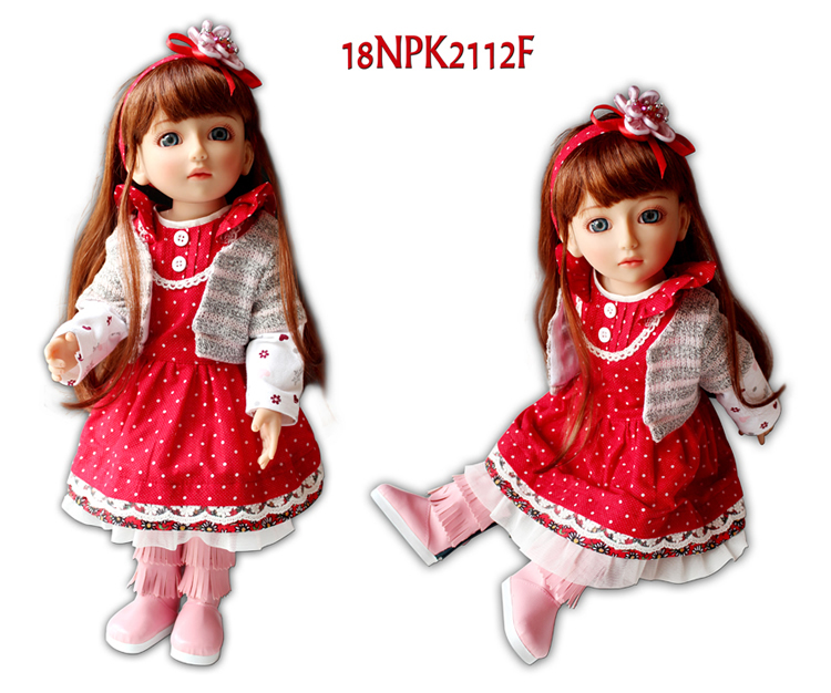 Beautiful SD/BJD doll 18inch top quality handmade doll poseable with joints good for children gifts and birthday present hot newest 18 inch handmade vinyl doll bjd doll with dress beautiful princess doll toy for children christmas gift