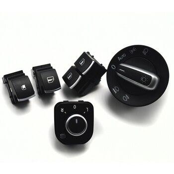 Window Mirror Headlight Fuel Tank Switch For VW Passat B6 Rabbit Tiguan  Golf MK5 V 6 R32 GTI MK5 5K3959857 1KD959833 5ND941431B