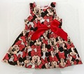 Summer Style Girls Dress Minnie Mouse Clothing For Girl Cartoon Princess Dress Children's Clothing For Sleeveless Cotton Dresses