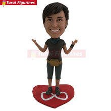 Girlfriend Christmas Gift Daughter Wife Mother Custom Bobblehead Clay Figurine gift Mom