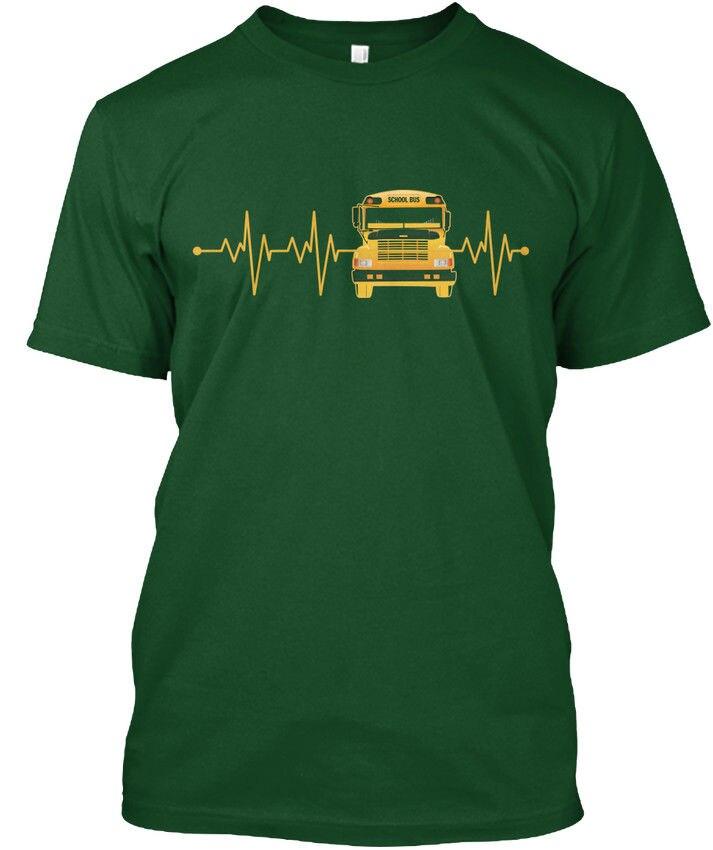 School Bus Driver Heartbeat Popular Tagless Tee T-Shirt