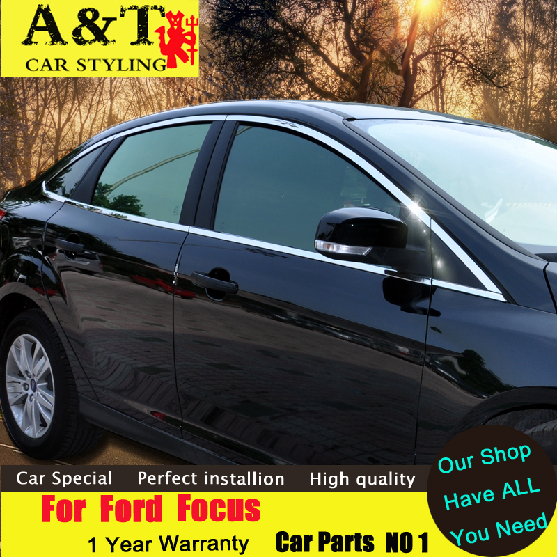 JGRT car styling For Ford Focus 2 hatchback Window trim 2012 2015 Window chrome sticker windows ABS bar car styling stainless steel full window trim decoration strips for ford focus sedan 2012 2015 car styling high quality chrome stickers trim