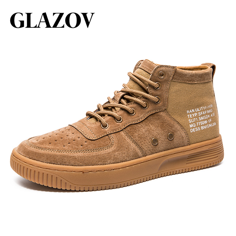 GLAZOV Fashion Shoes Men Sneakers Justin Bieber Men Boots Size 38-44 Hip  Hop Leather 953ae0451ad4