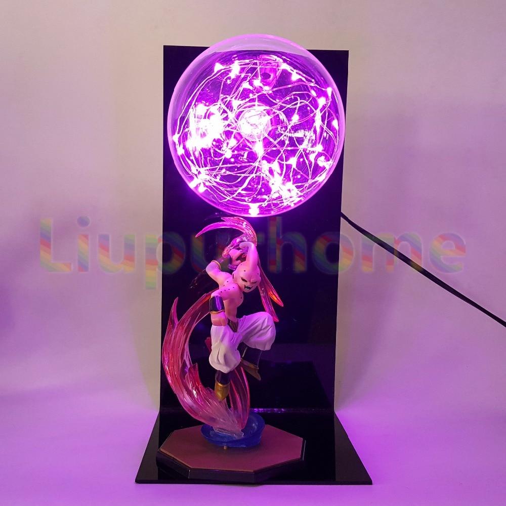 Dragon Ball Z Majin Buu DIY Led Night Light Bulb Table Lamp Anime Dragon Ball Z Buu Figure Led Light Luces Navidad