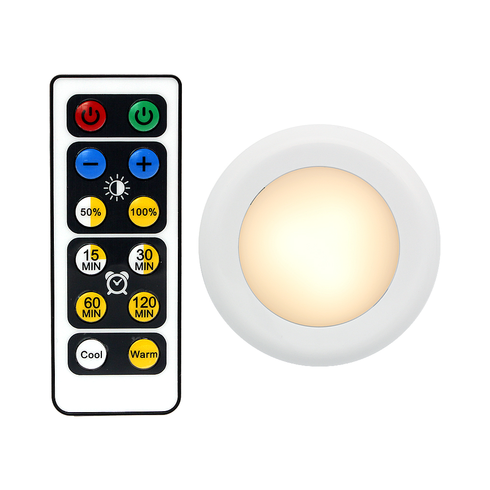 LED Night Light Wireless Remote Control Dimmable Under Cabinet Lights For Home Kitchen Wall Closet Wardrobe Lamp
