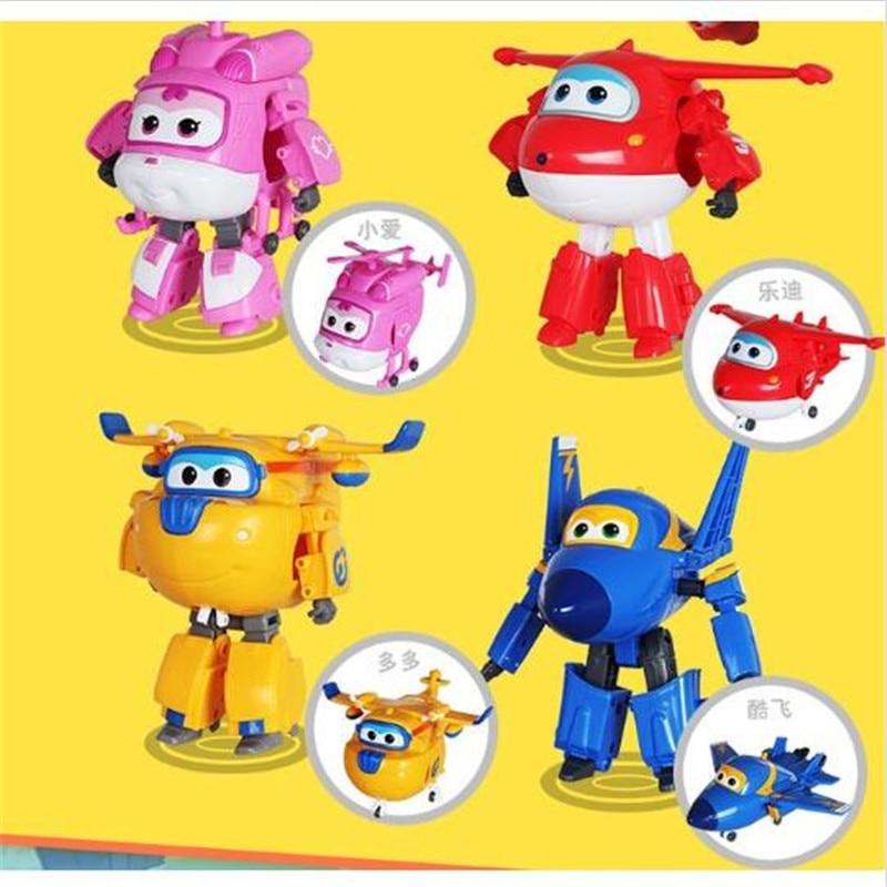 8 stilleri Süper Kanatları oyuncaklar Mini Uçaklar Model Dönüşümü Uçak Robot Aksiyon Figürleri Erkek Doğum Günü Hediyesi Brinquedos W92