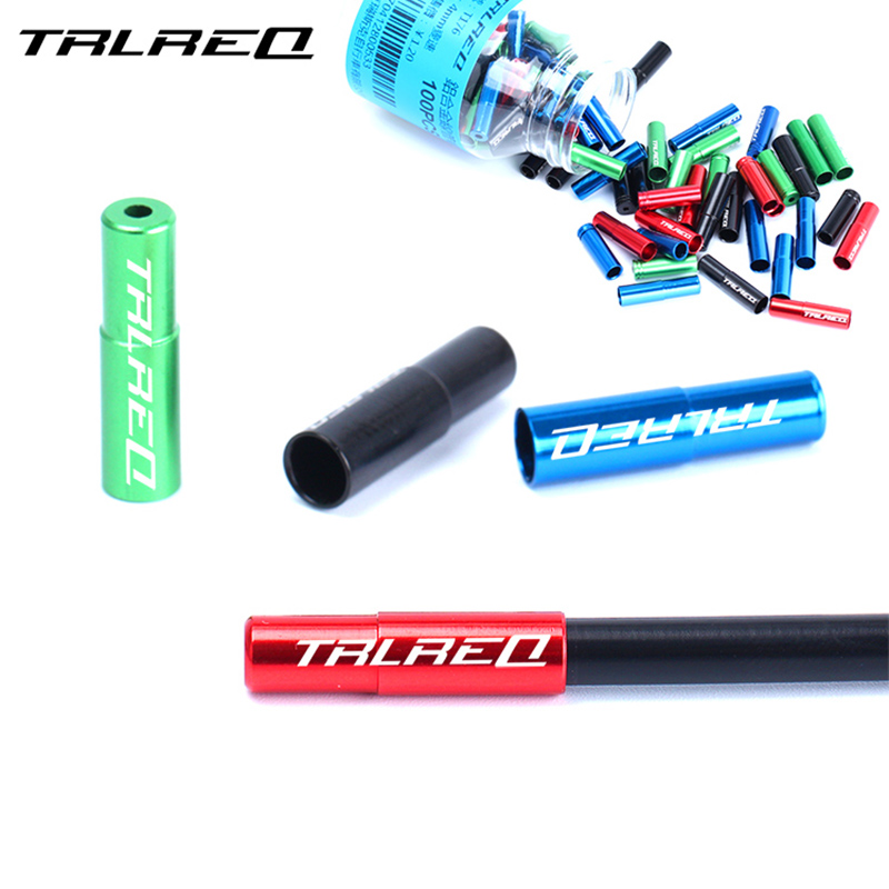 TRLREQ Aluminum Alloy MTB Road Bike Hydraulic 5mm Brake Wire Cable Line End Cap Bicycle 4mm Shift Cable End Cap Cover 10Pcs
