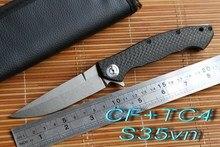 Jufule dmitry sinkevich koordinal s35vn carbon fiber titanium ceramiczne łożyska flipper kieszeni składany ostrze polowanie obóz nóż narzędzia