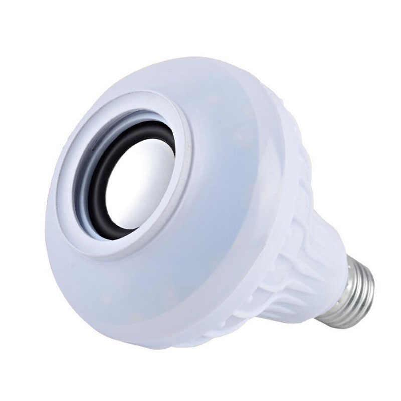 E27 Pintar RGB RGBW Wireless Bluetooth Speaker Bola Bermain Musik Dimmable LED Bulb Cahaya Lampu dengan 24 Keys Remote Control