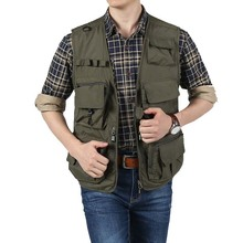 цены asf jeep Mutil-Pockets Vest Sleeveless Jacket Men Casual Waistcoat Photography Fishing Journalists Dedicated Mesh Vests