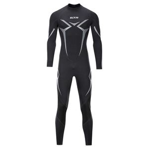 Image 3 - New One Piece Neoprene 3mm Diving Suit Winter Long Sleeve Men Wet suit Prevent Jellyfish Snorkeling Suit Free Shipping
