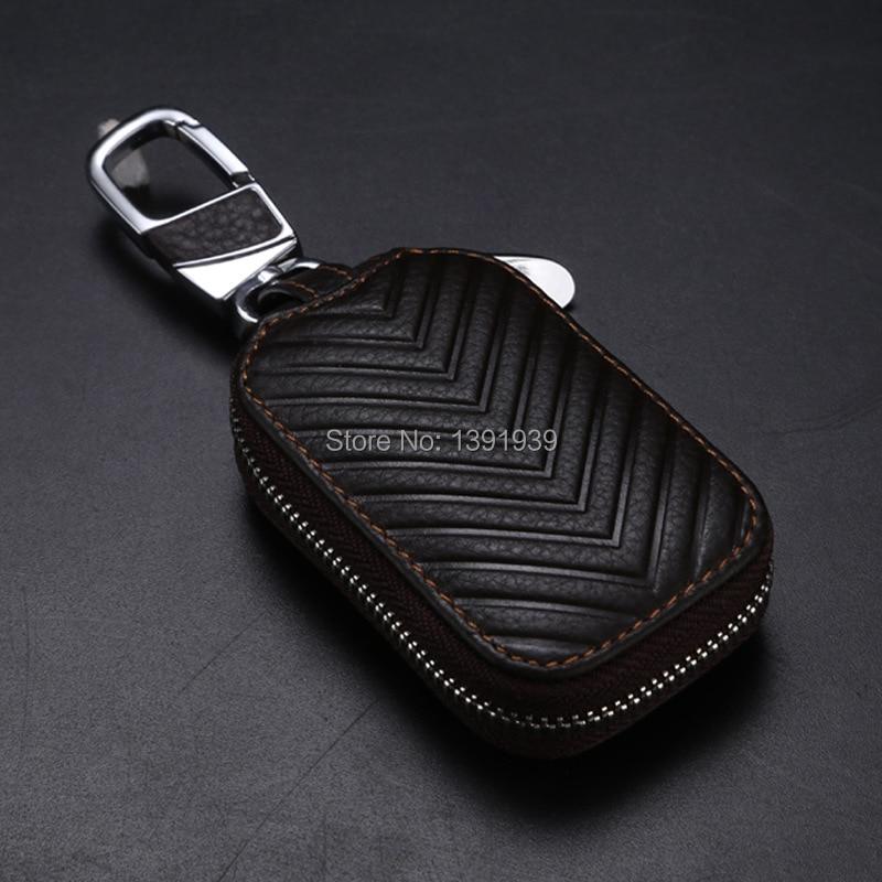 Car key wallet case Genuine Leather for Saab 9-5 9-4X 9-3 9-3X Turbo 9-X 9-7X free shipping