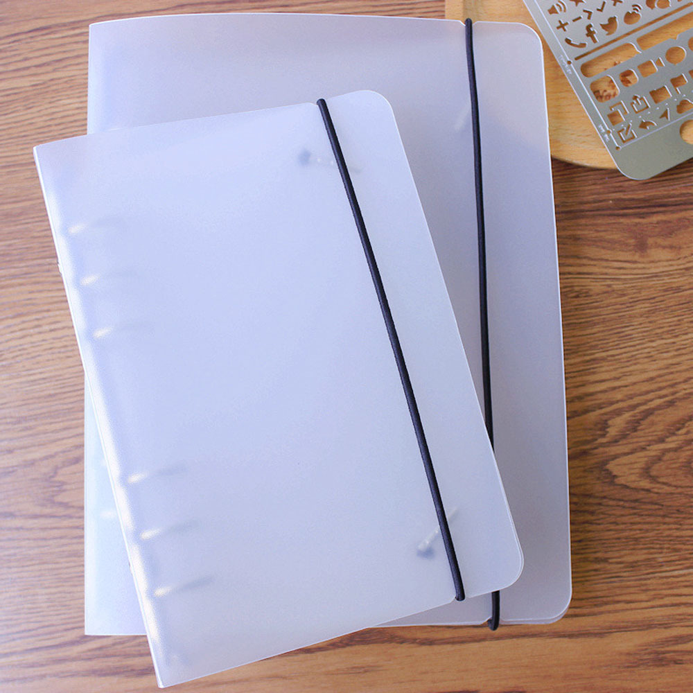 A5 A6 Simple PP PVC Spiral Binder Loose Leaf Notebook Sheet Shell Office School Supplies Transparent Concise Planner Cover a5 a6 a7 pvc 6holes spiral shell cover notebook diary notepad sheet sheel protector loose leaf