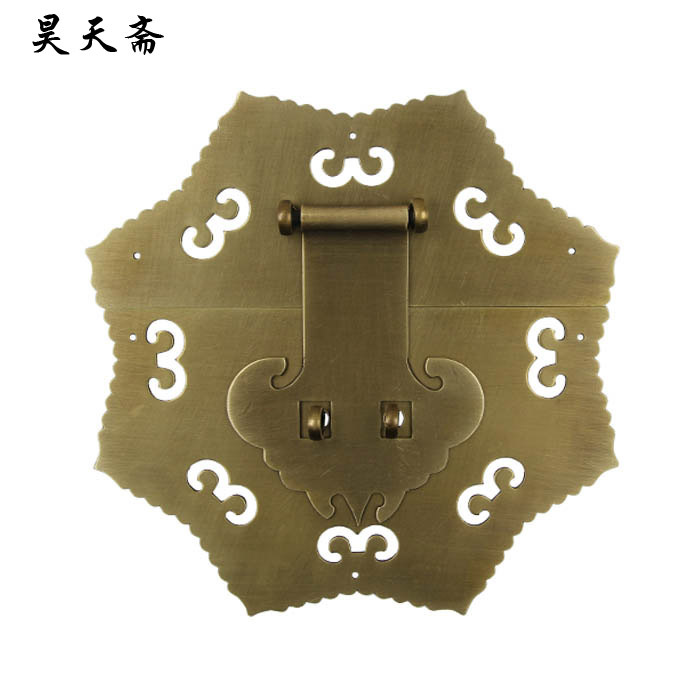 [Haotian vegetarian Chinese antique Ming and Qing Zhang Muxiang] bronze copper fittings suitable 80 100CM box