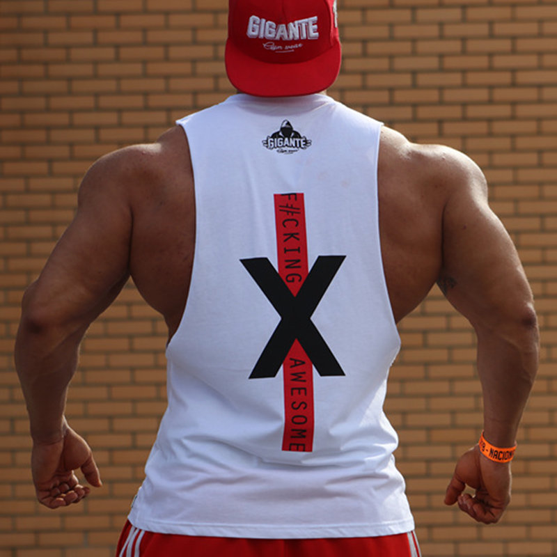 Men Bodybuilding   Tank     Tops   Gyms Fitness Workout Sleeveless Shirts Casual Fashion Cotton Print Vest Male Crossfit Brand Clothing