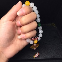 hetian white hand string Natural beads Jubilee strategy rich queen was made in the same style bracelet