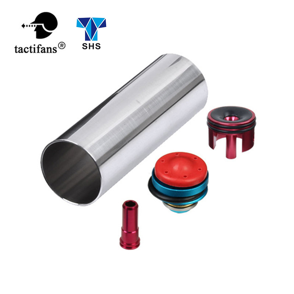TACTIFANS Solid Cylinder Tune Up Kit Piston Head Nozzle Cylinder Head Inner Barrel 450-580mm For M4 Series Airsoft AEG Paintball