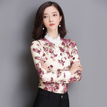 Women Blouses Sale Cotton Women Tops Plus Size Real Spot 2016 Hitz Fashionista Slim Shirt Sleeved Chiffon Winter Female Lace