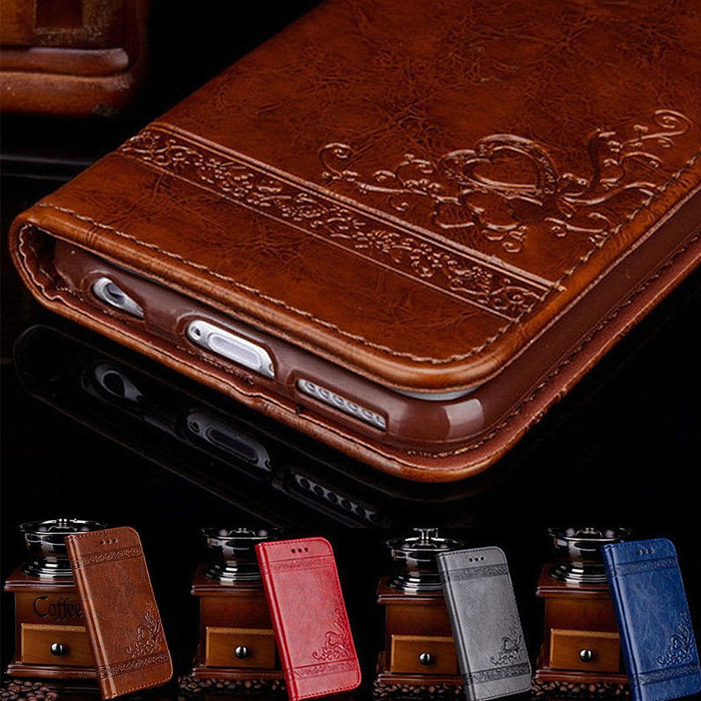 Smart Phone Protective Cover Fashion Embossing Leather