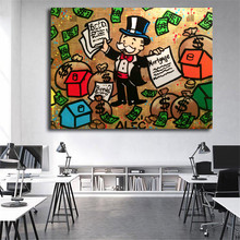 Money Man Graffiti Canvas Posters Prints Wall Art Painting Decorative Picture Modern Home Decoration Accessories