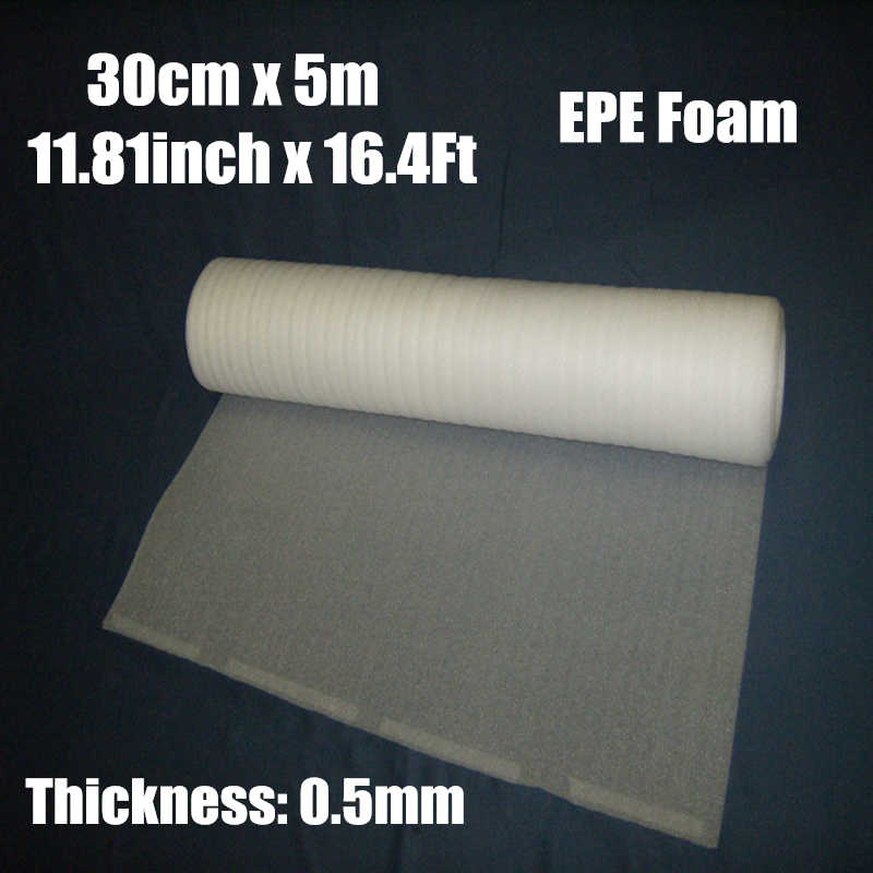 0.3*5m 1roll 0.5mm Protective EPE Foam Packing Roll Laser Warp Shipping Pre-cut Mail Packing Film Material Verpakkings Materiaal