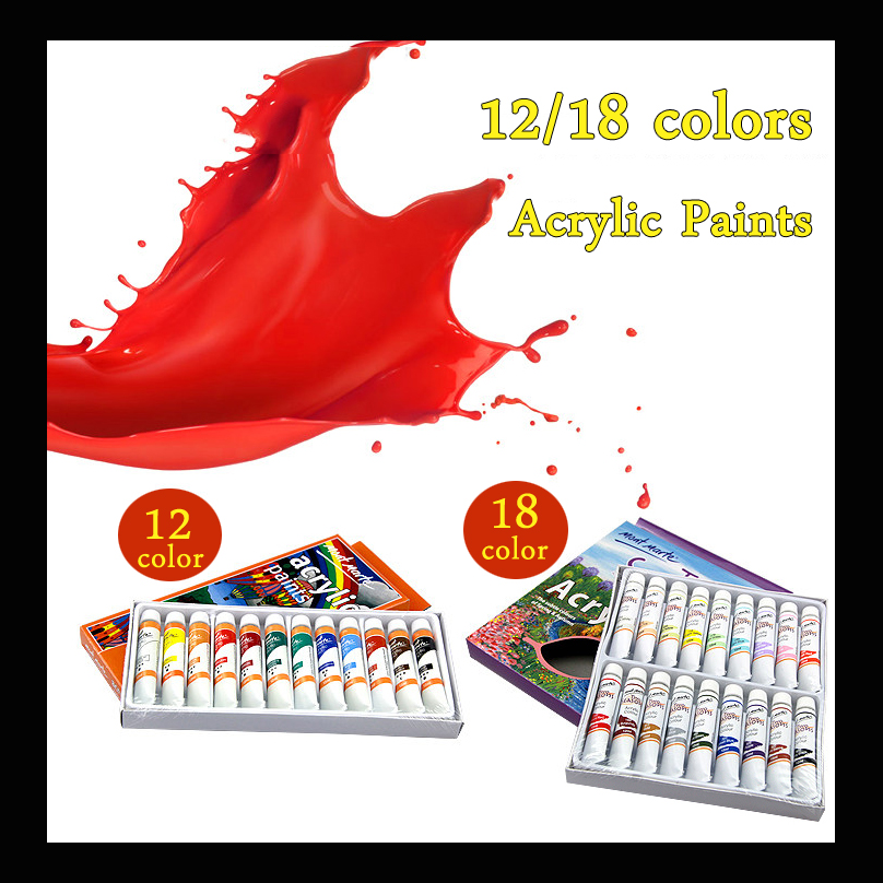 12 Colors 12ml Acrylic Paint set water color Nail glass Art Painting paint for fabric Drawing Tools Colored pen Art Supplies 12 18 24 30 colors set germany stabilo 280 washable drawing painting pen colored markerpen highlighter pen students art painting