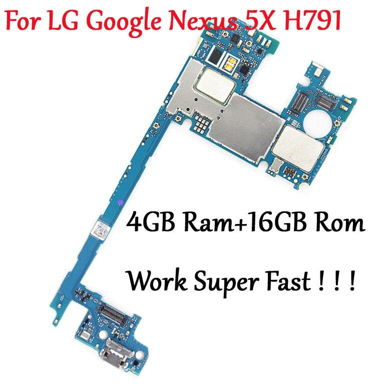 Tested Full Work Original Unlock Motherboard For LG Google Nexus 5X H791 Logic Circuit Board Plate