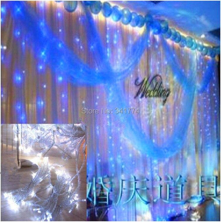 3*3 m 300 leds LED curtain lights lighting garland for fairy wedding party home garden outdoor Christmas holiday luminaria decor freeshipping 2 mtr x 4 mtr p18 matrix led rgb dj party garden star video curtain backdrop for home garden birthday party