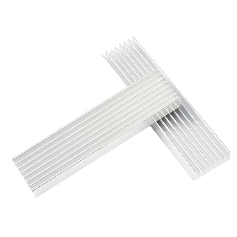 DIY Aluminum Heat Sink 100*25*10MM Cooling Heatsink Chip Heat Spreader Cooler 5pcs 20x20x15mm cooling accessories diy heatsink cpu gpu ic memory chip aluminum heat sink extruded cooler radiator