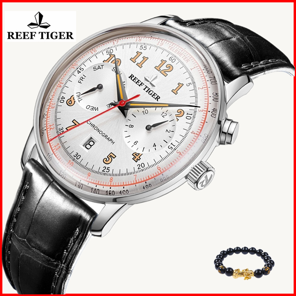 Reef Tiger/RT 2019 Men Classic Watch Multifunctional Sapphire Crystal Waterproof Mechanical Automatic Watches Relogio Masculino