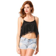 2016 Real Tank Top Cropped Crop Tops Lace Tank Women Sleeveless Blouse Shirt Camisole Spaghetti Strap 3 Colors New Arrival 41