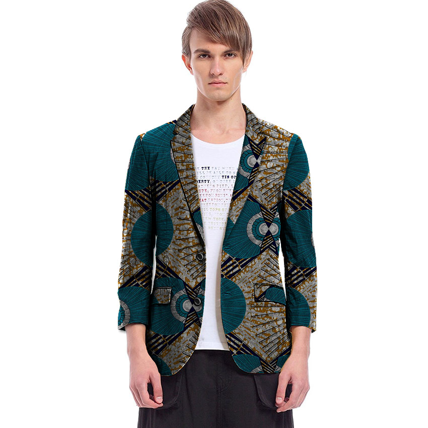 African Print Men Blazers Dashiki Africa Festive Blazers For Party Customize African Mans Suit Jacket Africa men clothes