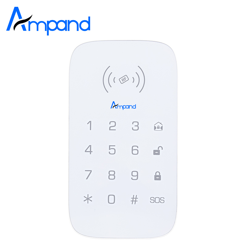Ampand PK-10 wireless keypad For Wireless GSM WIFI PG103 Alarm System Access control can increase RFID card projector lamp bulb an xr20l2 anxr20l2 for sharp pg mb55 pg mb56 pg mb56x pg mb65 pg mb65x pg mb66x xg mb65x l with houing