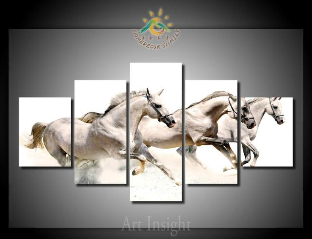 5 Pieces/set Limited Edition running horses Wall Art For Wall Decor ...