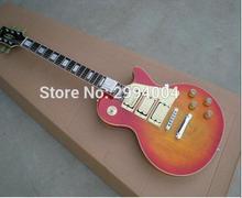 New Style Ace Frehley Signature Gitarre, Top-Qualität Custom Shop Ace Frehley 3 Drei Pickups E-Gitarre, Flame Maple Top