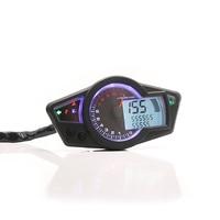 Universal Motorcycle Kmh/Mph LCD Digital Speedometer Odometer Tachometer Gauge For Harley Honda Yamaha Suzuki Cafe Racer