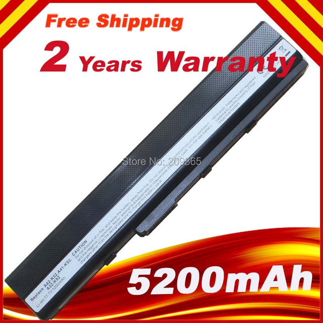 O envio gratuito de bateria para ASUS K52J K52JC K52JB K52JR K52JE K52JK K52N K52EQ K52JU K52JT K62J K62F K62JR Laptop