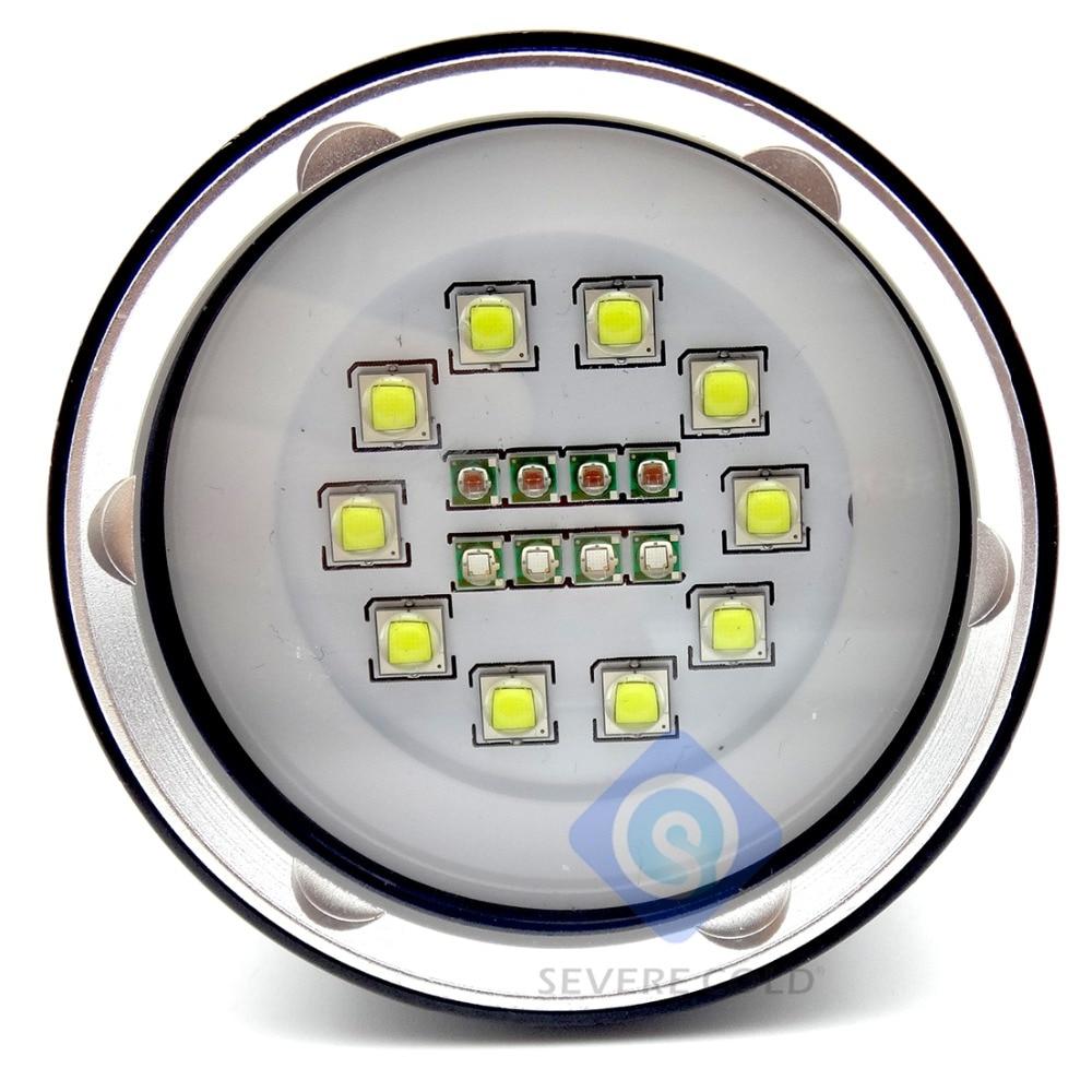 High Quality Professional XML L2 LED White Red UV Light LED Torch Underwater Video Diving Flashlight Lamp Scuba Diving Light-in LED Flashlights from Lights & Lighting    2