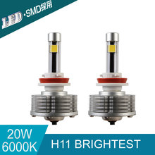 H11 LED Trucks Auto Fog Lamps Source Light Conversion Kit Car Bulbs H11 Brightest 6000K 20W 2400LM White Light Car-styling