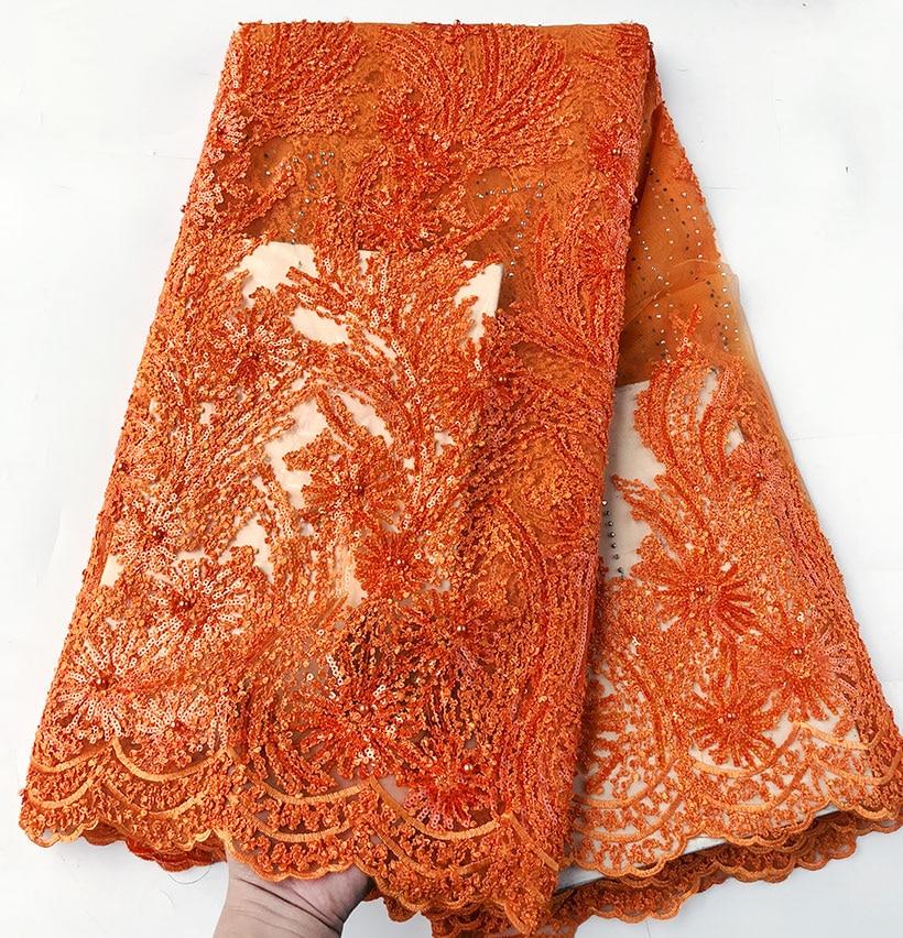 5 หลา superior Gold neat เย็บปักถักร้อยแอฟริกันลูกไม้ฝรั่งเศสผ้าไนจีเรียฉลองเสื้อผ้าผ้า sequins คุณจะชอบ-ใน ลูกไม้ จาก บ้านและสวน บน   2
