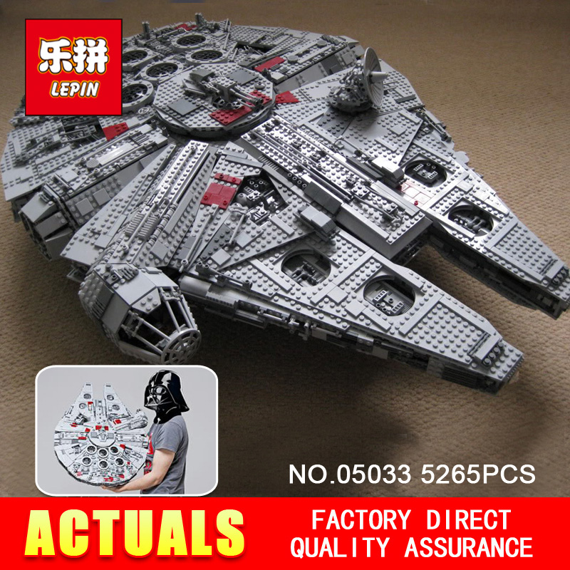 LEPINBRICKS Store LEPIN 05033 5265Pcs Star Wars Ultimate Collector's Millennium Falcon Model Building Kit Blocks Bricks Toy Gift Compatible 10179