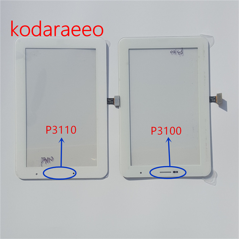 kodaraeeo 7.0 For SAMSUNG GALAXY Tab 2 P3110 P3100 Touch Screen Digitizer Glass Panel Replacemnet Part free shipping new 7 inch for samsung galaxy tab 2 7 0 p3100 p3110 touch screen panel glass sensor digitizer tablet pc replacement parts